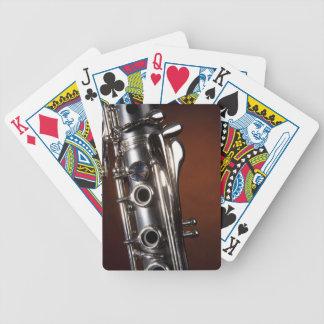 Regalo del Clarinet en fondo del proyector del oro Baraja Cartas De Poker
