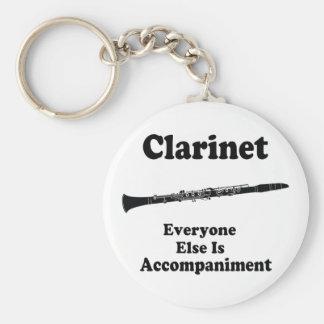 Regalo del Clarinet Llavero Redondo Tipo Pin