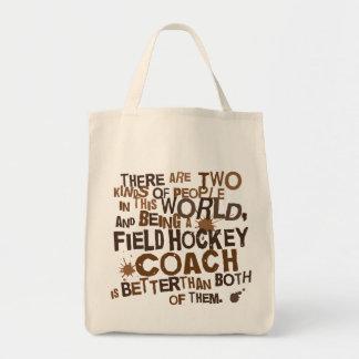 Regalo del coche de hockey hierba bolsa tela para la compra