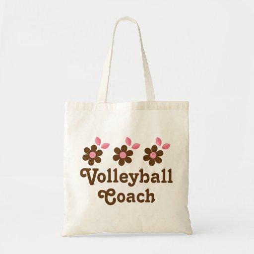 Regalo del coche del voleibol (chicas) bolsas lienzo