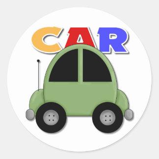 Regalo del coche para los niños pegatina redonda