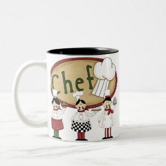 Regalo del cocinero taza de dos tonos
