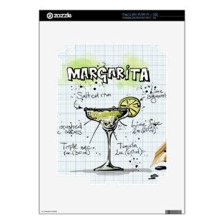 Regalo del cóctel de la bebida de Margarita iPad 2 Calcomanías