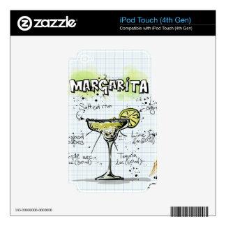 Regalo del cóctel de la bebida de Margarita iPod Touch 4G Calcomanía