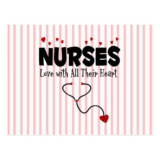 Regalo del corazón de la enfermera tarjetas postales