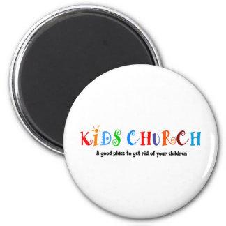 Regalo del cristiano de la iglesia de los niños imán redondo 5 cm