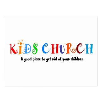 Regalo del cristiano de la iglesia de los niños tarjetas postales