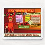 Regalo del cristiano del plan de batalla tapetes de raton