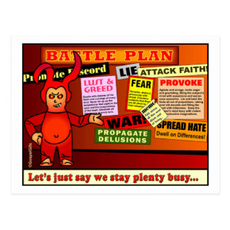 Regalo del cristiano del plan de batalla postal