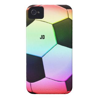 Regalo del deporte del fútbol el   del fútbol iPhone 4 fundas