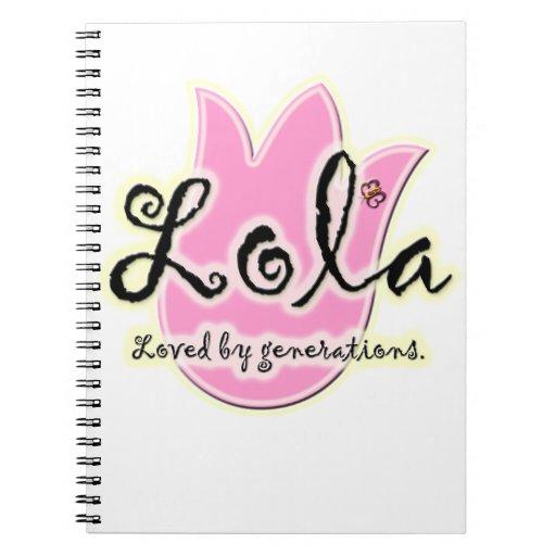 Regalo del día de madre de Lola del filipino Libros De Apuntes Con Espiral