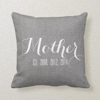 Regalo del día de madre personalizada lino del cojín