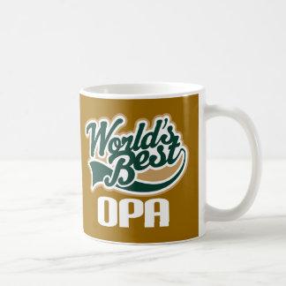 Regalo del día de padre del abuelo de Opa (mundo Taza De Café