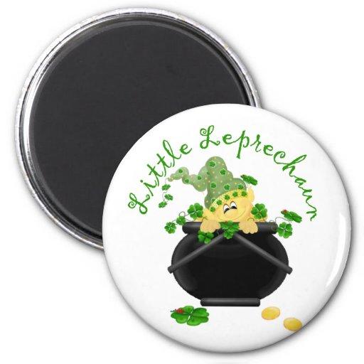 Regalo del día de St Patrick del Leprechaun Imán