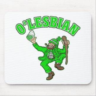 Regalo del día de St Patrick lesbiano divertido Alfombrillas De Raton