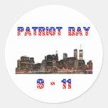 Regalo del día del patriota etiqueta redonda