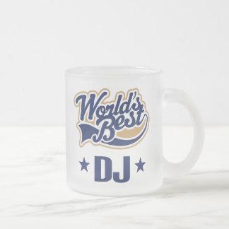 Regalo del disc jockey de DJ (mundos mejores) Taza De Cristal