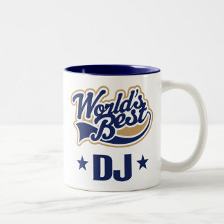 Regalo del disc jockey de DJ (mundos mejores) Taza De Dos Tonos