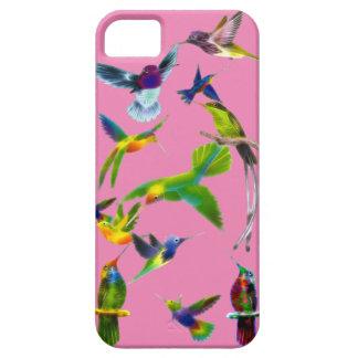 Regalo del diseñador de Birdlover de los colibríes iPhone 5 Cárcasas
