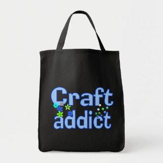 Regalo del diseño de las gotas del adicto al arte bolsas