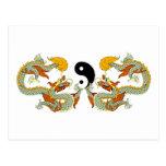 Regalo del dragón de Yin Yang Tarjetas Postales