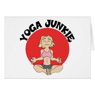 Regalo del drogadicto de la yoga tarjeta de felicitación