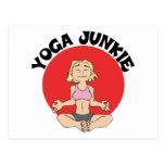 Regalo del drogadicto de la yoga tarjetas postales