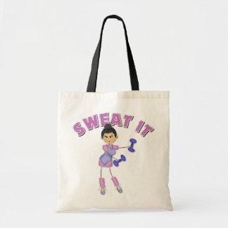 Regalo del ejercicio para las mujeres bolsa tela barata