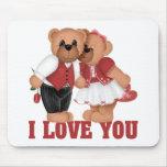 Regalo del el día de San Valentín de los niños Alfombrillas De Ratones