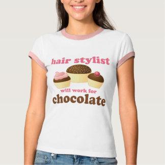 Regalo del empleo del estilista del chocolate camisas