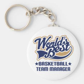Regalo del encargado de equipo de baloncesto llavero personalizado