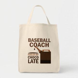 Regalo del entrenador de béisbol (divertido) bolsa tela para la compra