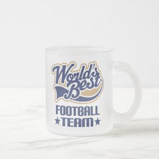 Regalo del equipo de fútbol taza de cristal