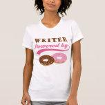 Regalo del escritor (anillos de espuma) camisetas