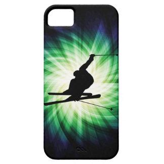 Regalo del esquí de la nieve iPhone 5 carcasa