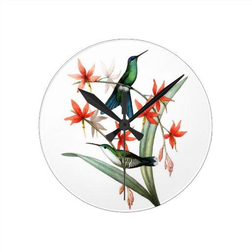 Regalo del estreno de una casa 12 del colibrí no reloj de pared