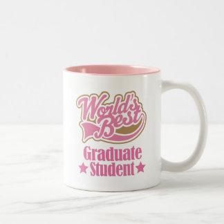 Regalo del estudiante de tercer ciclo (mundos taza de café de dos colores
