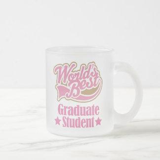 Regalo del estudiante de tercer ciclo (mundos taza de café esmerilada