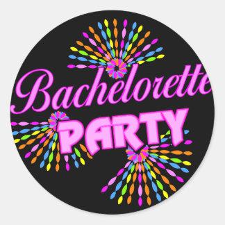 Regalo del fiesta de Bachelorette Pegatina Redonda