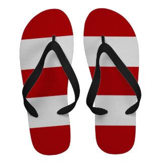 Regalo del flip-flop de los hombres rojos y blanco
