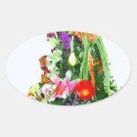 Regalo del Flor-ACEITE Pegatinas De Oval Personalizadas