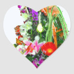 Regalo del Flor-ACEITE Pegatina Corazón Personalizadas