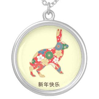 Regalo del flor del conejo joyeria personalizada