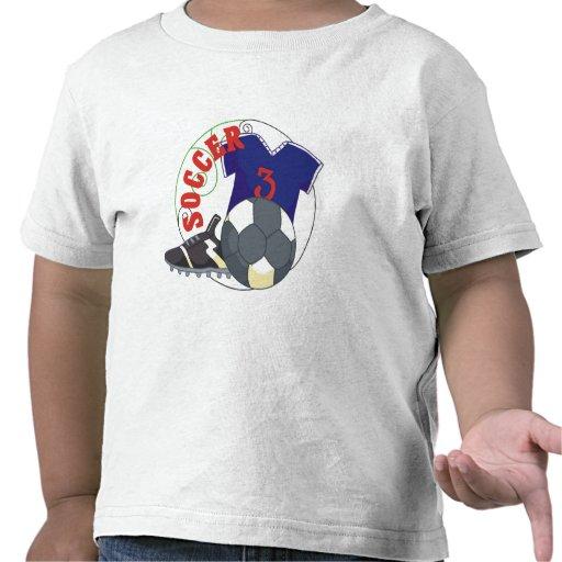 Regalo del fútbol de los niños camisetas