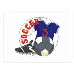 Regalo del fútbol de los niños postales