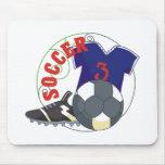 Regalo del fútbol de los niños tapete de ratón