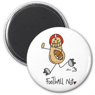 Regalo del fútbol imán redondo 5 cm