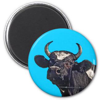 Regalo del ganado de Holstein Imán Redondo 5 Cm