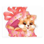 Regalo del gatito postales