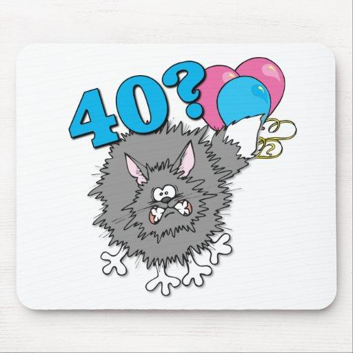 Regalo del gato de 40 cumpleaños alfombrillas de raton